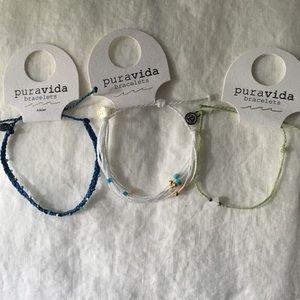 Bundle of 2  Pura Vida Bracelets and 1 Anklet